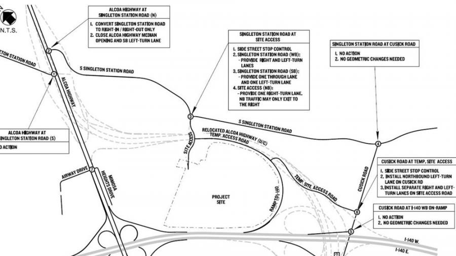 TDOT records for Project Pearl road assistance request.
