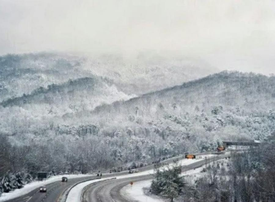 """The KYTC maintains a """"strike force"""" of four snowplows positioned for statewide deployment from Frankfort during major winter weather events and has on hand a supply of 375,000 tons of salt; 1.1 million gal. of brine for anti-icing efforts; and 1 million gal. of calcium chloride, an additive to salt to boost its de-icing capability. (Kentucky Transportation Cabinet photo)"""
