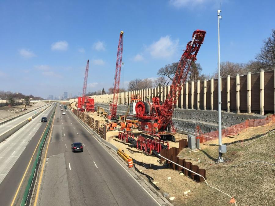 The Minnesota Department of Transportation is overseeing a $64.5 million project that will use giant underground stormwater tanks designed to ease flooding on a busy freeway in south Minneapolis. (MnDOT photo)