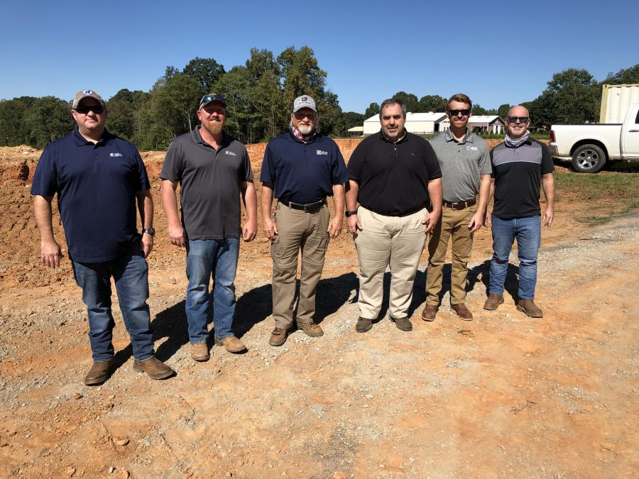 (L-R): Mike Wilson and Matt Hovis, both of Neill Grading & Construction; Ronnie Rathbone, Terry Thomas, Kyle Cohoon and Ted Doarrn, all of James River Equipment
