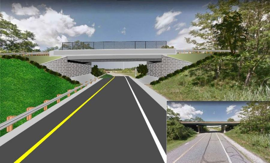 Middle Bridge — Wharf Road South Left Turn Ramp to MD 151 South (ramp is over Wharf Road North). (Maryland.gov rendering)