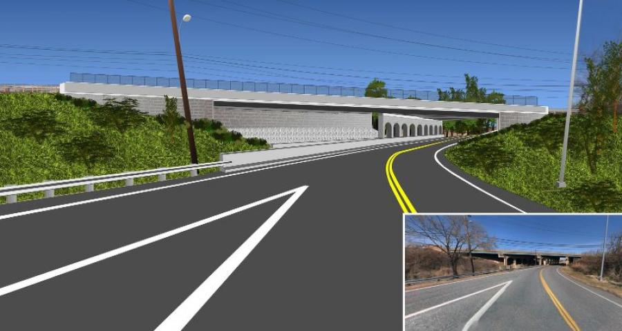 Southern Bridge - MD 151 (Sparrows Point Blvd.) over Wharf Road and Railroad Line. (Maryland.gov rendering)