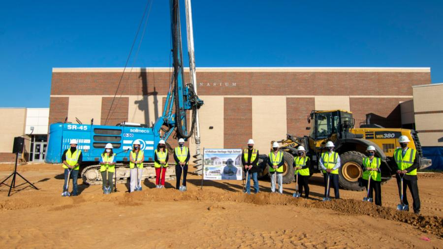 Located in northwest Ellis County, 25 miles southwest of Dallas, the $53 million project includes a 185,000-square-foot addition to Heritage High School. (VLK?Architects photo)