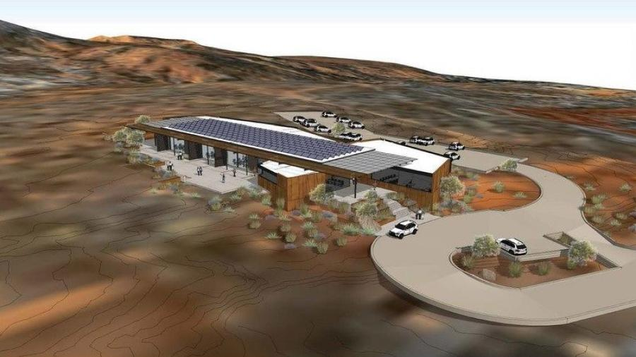 Utah State University Moab's campus building located south of the city of Moab will be a combustion-free, net-zero energy building, passively designed to harness southern solar energy through the use of thermal mass in the walls and floor.