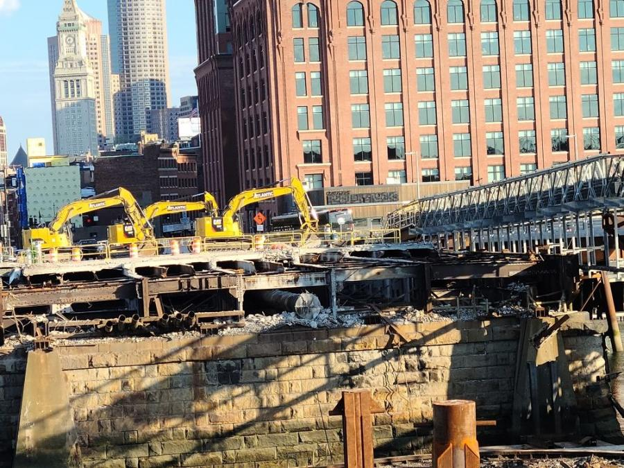 Built between 1898 and 1900, the North Washington Street Bridge Street in Boston has been demolished and is being replaced by J.F. White Contracting Co. through a $177 million-plus contract that was awarded by the Massachusetts Department of Transportation (MassDOT).
