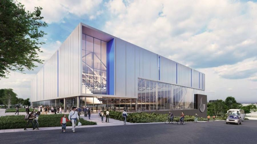 Work has begun on a new Georgia State arena in the former parking lots of Atlanta Stadium and Turner Field, as the school continues its expansion at a six-acre site just north of Center Parc Stadium. (Georgia State University rendering)