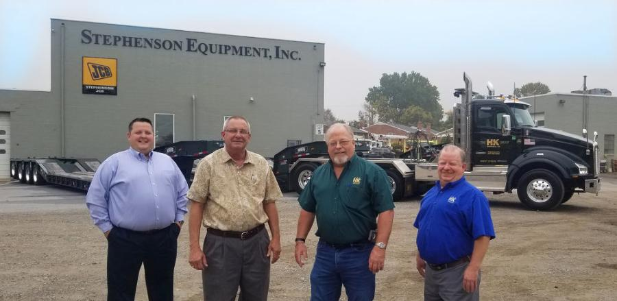 H&K Group Inc. takes delivery of a recent trailer purchase at SEI's Prospect Park, Pa., facility. (L-R): Jeff Tulish, SEI vice president; John Conner, SEI trailer sales manager; Dan Alderfer, H&K Group fleet superintendent; and Wade Wetzel, H&K Group director of maintenance.