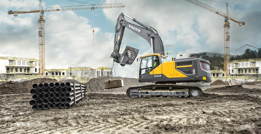 Volvo EC300E 30 ton excavator used as a test bed.