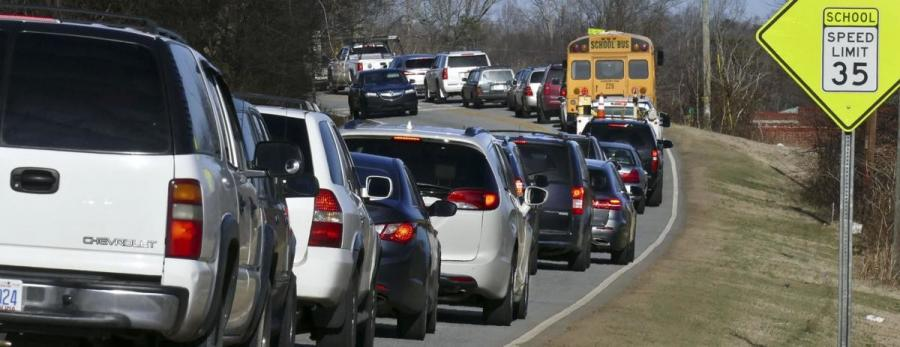 Meadowlark Drive is clogged with traffic twice a day for about 30 minutes during the school year when drivers and buses ferry students at Meadowlark Elementary and Middle schools. New development continues to increase traffic on the street in western Winston-Salem.