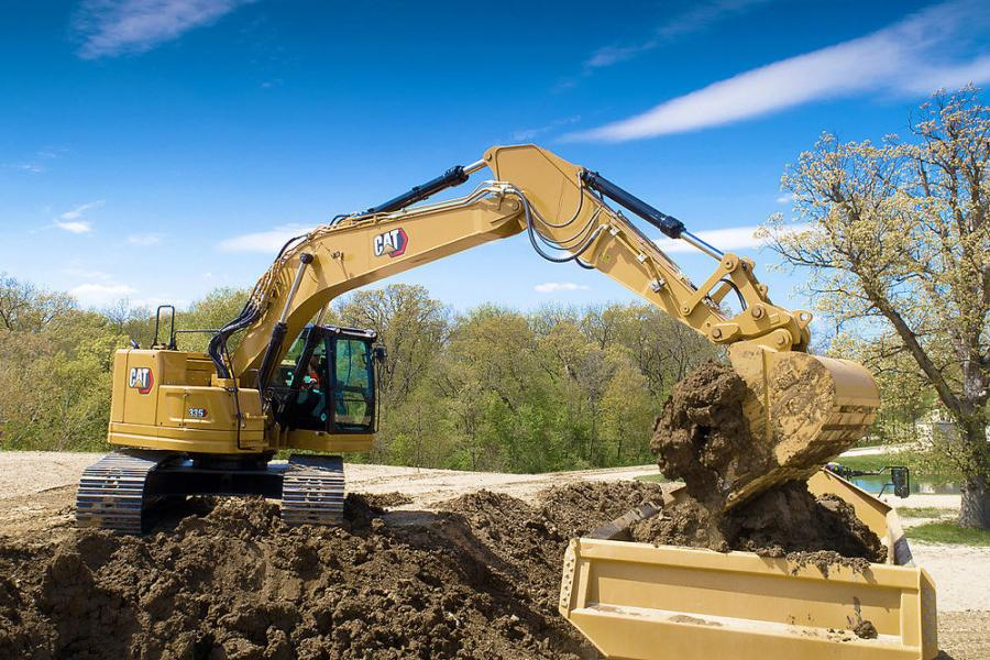 The new 335 features increased stick and bucket cylinder sizes to provide 15 percent greater digging forces to power through hard ground and asphalt. Hydraulic power is increased by 20 percent to boost productivity.