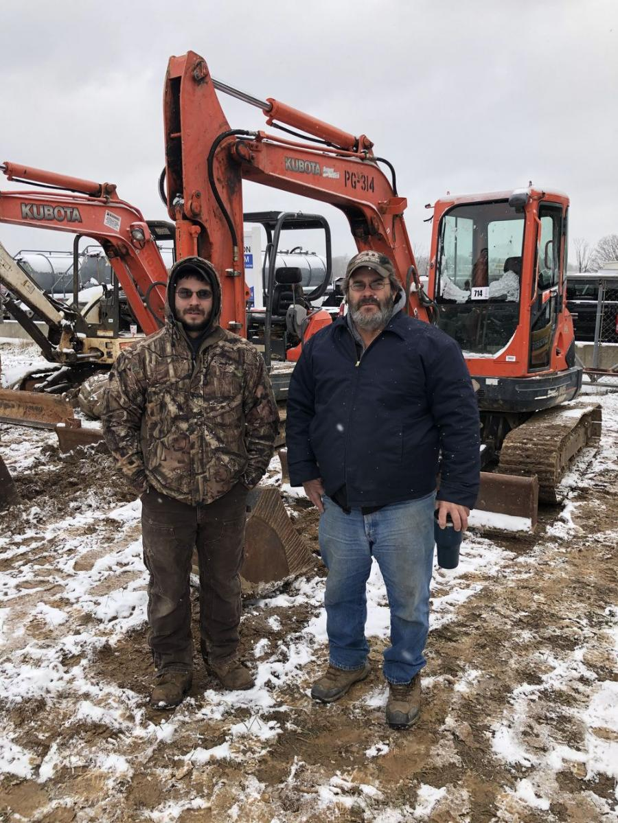 Derek and Todd Parker, both of Parkers Excavating in Bland, Va.