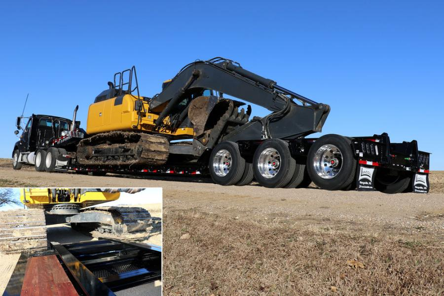 The drop side trailer option features a 5 in. lowered track area and a raised center.