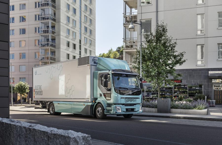 Electric Volvo FE truck