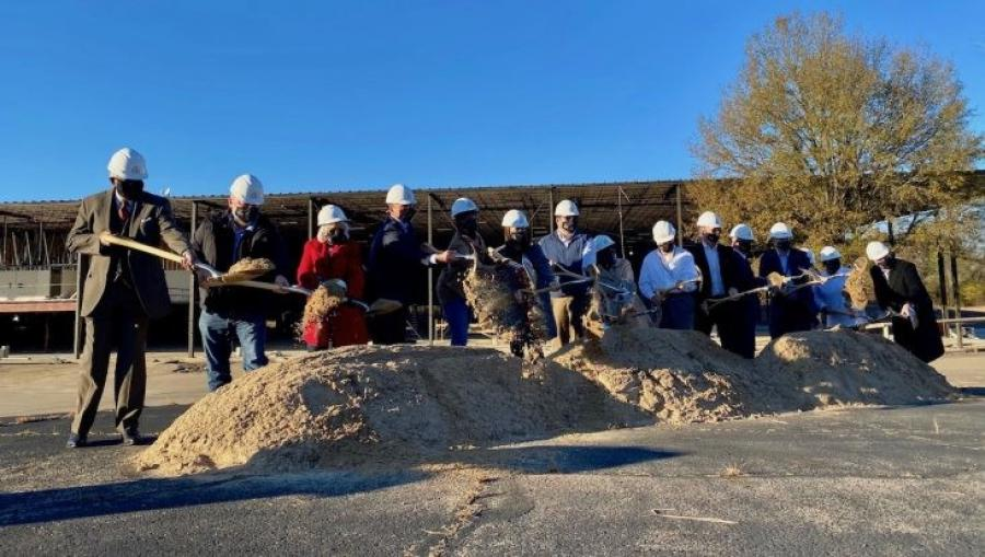 The groundbreaking ceremony held Dec. 7 for the Peak Innovation Center in Fort Smith.(University of Arkansas at Fort Smith photo)