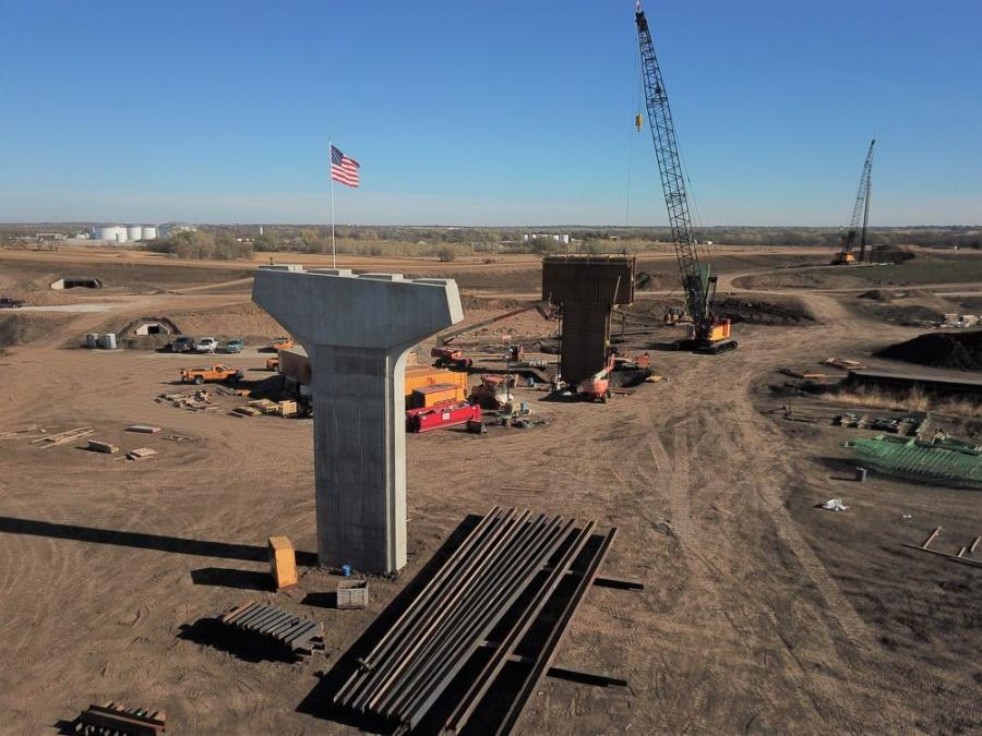 Lincoln South Beltway crews began working on bridge pilings and the support structures that will hold up a flyway crossing over U.S. 77 that westbound drivers will use to go south toward Beatrice.