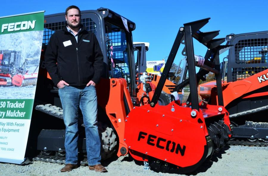 Blake Eavenson, regional sales manager of Fecon Inc., was on hand to provide information about his company's line of mulching products.