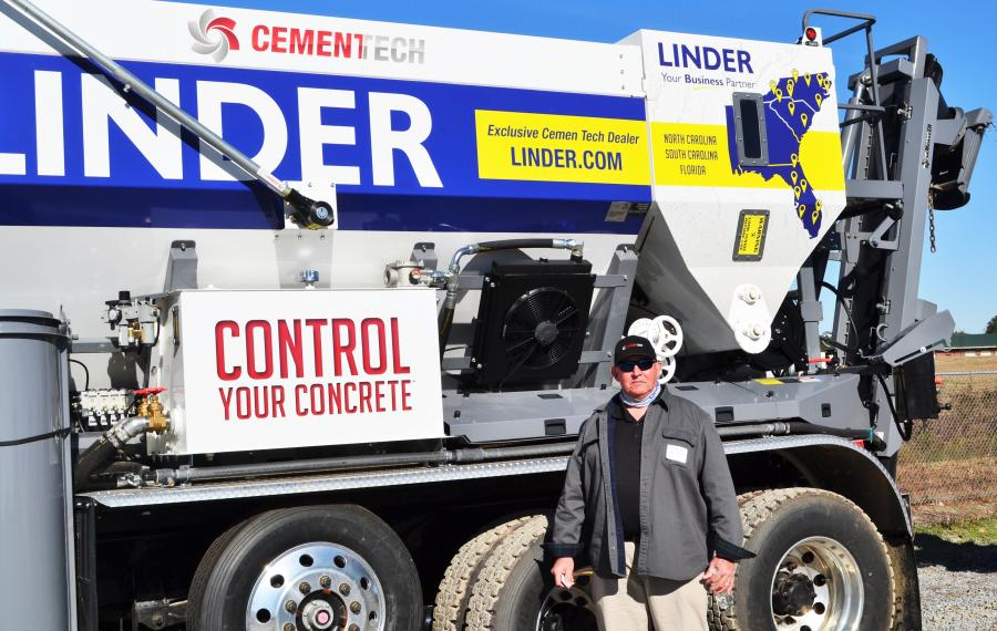 Tony Bradley of CemenTech came out to introduce event attendees to the advantages of volumetric mixers on job sites or for municipality and utility work.