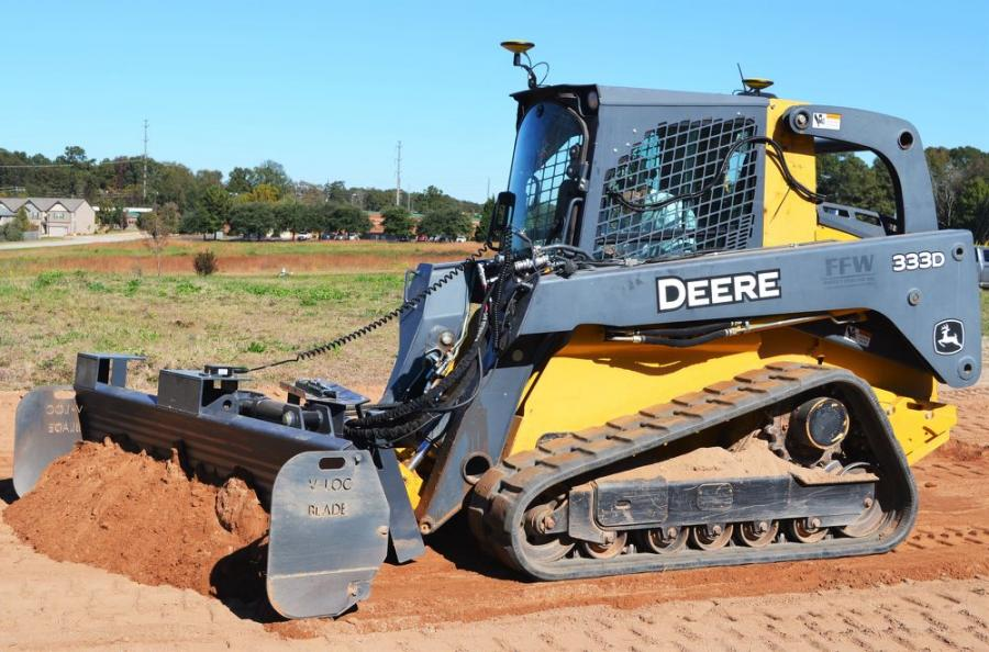 David's Dozer V-Loc Grading System — guided by GPS mastless technology — works flawlessly during a recent demonstration in Georgia.