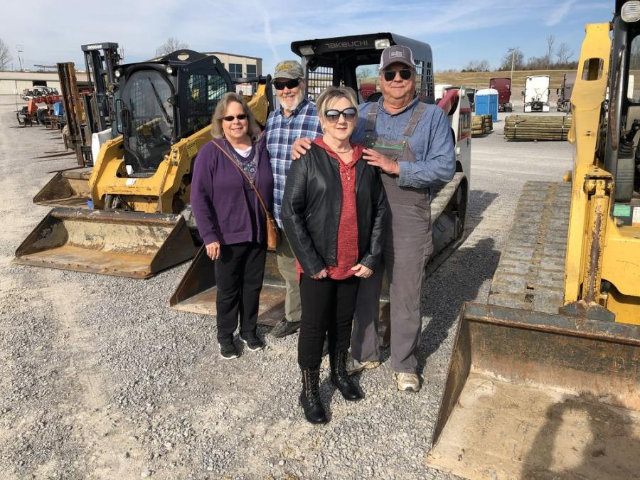 (L-R) are Sharon and L.C. Brown; and Faye and Jimmy Caldwell. They are with Caldwell Paving Company in Gallatin, Tenn.