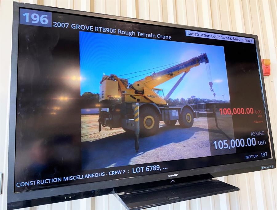 To ensure that all bidders are on top of what lot is being sold and where the pricing stands, numerous big screen TVs are positioned everywhere throughout the auction theater and the lobby area.