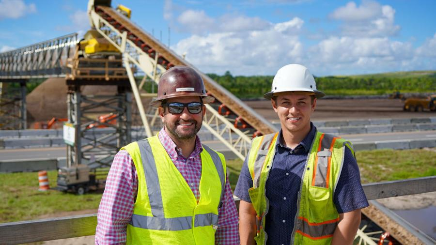 Lawson Lamar (L), vice president of J. McKinnon Development, and Reece Brimmer, president of Peninsula Technologies (owned by J. McKinnon).