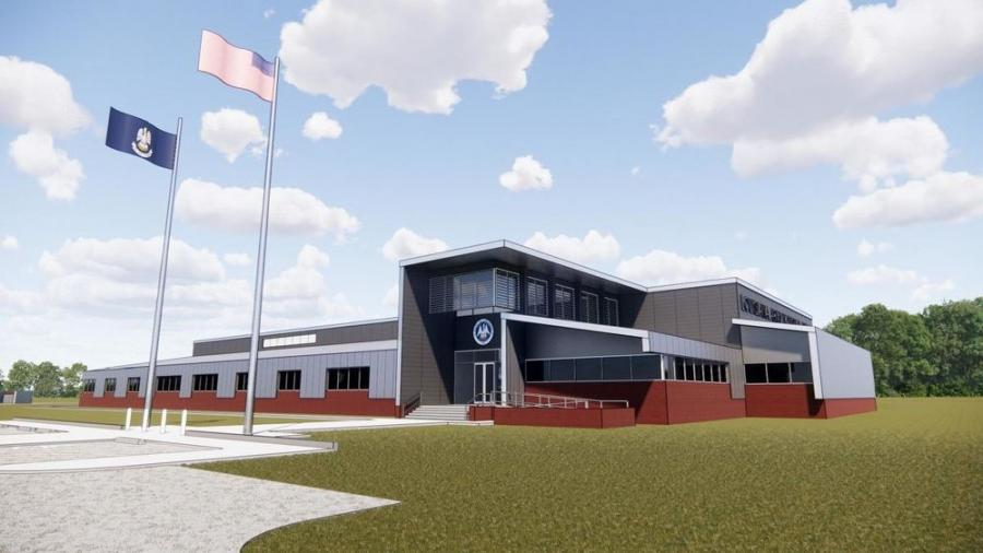 Chennault International Airport officials announced that the airport will serve as host of a new training center for the Louisiana National Guard set to be completed in 2023. Above, an artist's rendering of the proposed training center.