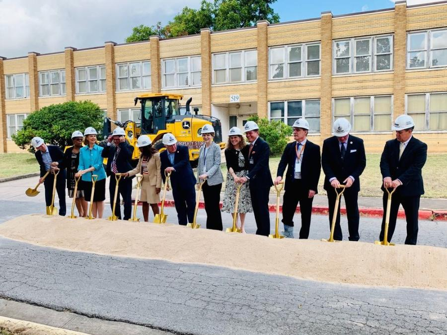Officials participated in a groundbreaking ceremony in October 2019 to kick off the project.