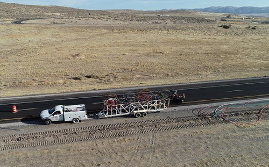 The fiber conduit systems are being installed along I-70 in Millard and Sevier counties and along I-84 in Box Elder County.