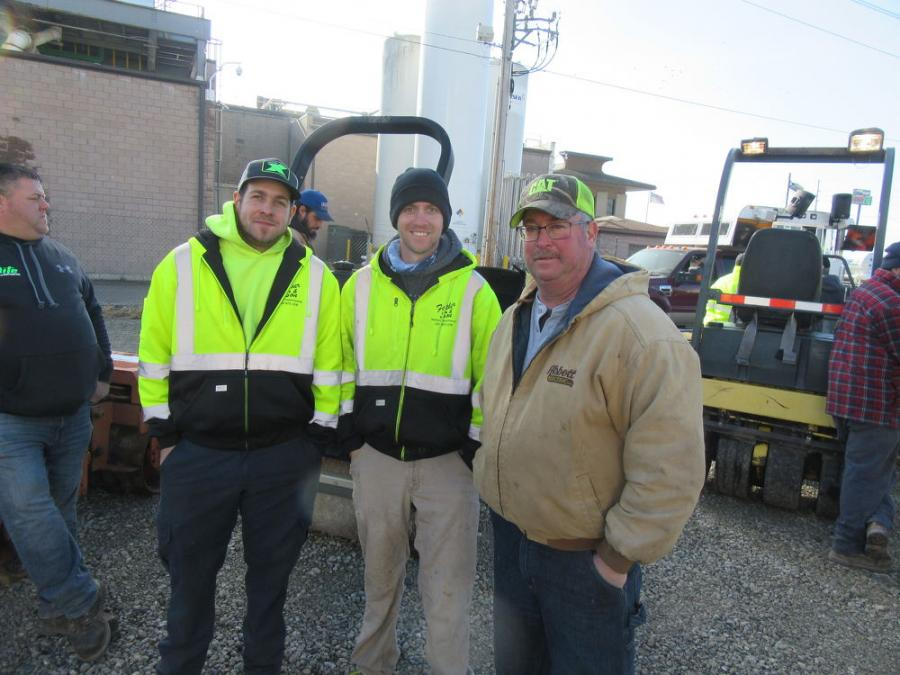 (L-R): Father & Sons Property Maintenance's Austin Woronka, Dan Saunier and Bill Woronka were on the lookout for equipment bargains.