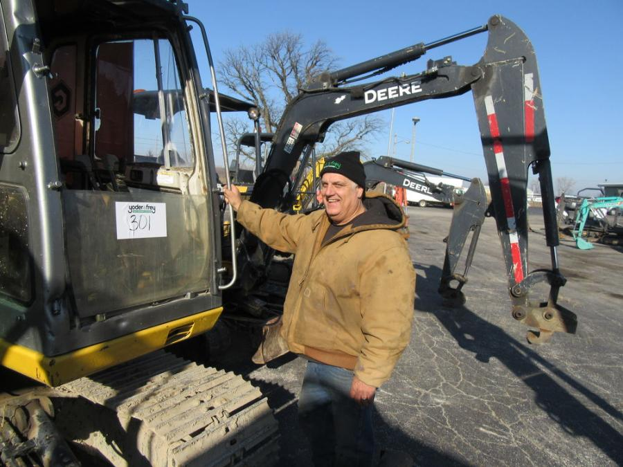 Chris Malone of Niles Motor Freight was at the auction shopping for dozers, backhoes and excavators.
