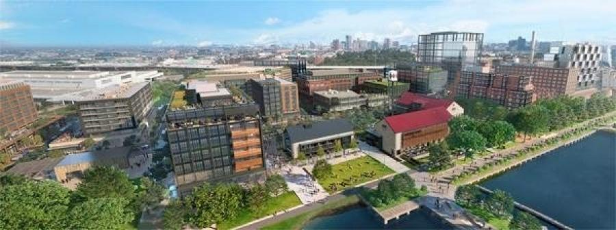 The next phase of development includes five buildings, a portion of what eventually is planned to include 18 million sq. ft. of development, with 2.5 mi. of restored waterfront and more than 40 acres of parks and green space, according to the development team.