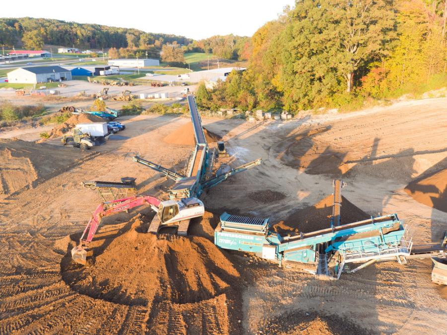 Claiborne Hauling has a 10-acre satellite quarry and conducts contract material processing at multiple locations throughout eastern Tennessee.