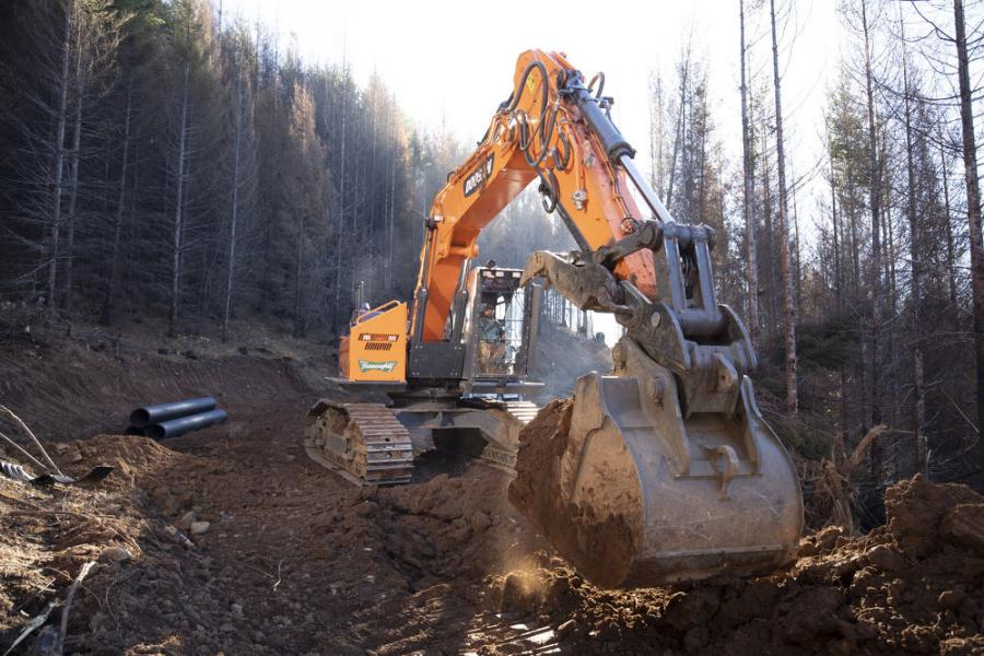 The Doosan 300 has a forestry approved  cab that is structurally engineered for the safety of the operator so that it would withstand impact and not collapse if rolled over.