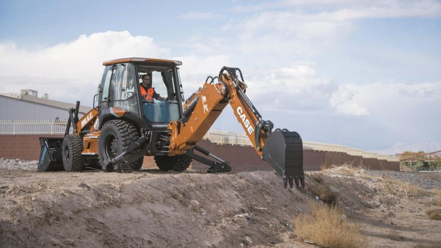 """Project Zeus"" is the Case 580 EV backhoe loader — the construction industry's first electric backhoe loader."