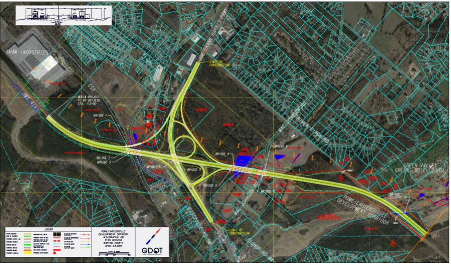 The long-awaited Rome-Cartersville Development Corridor is expected to begin construction in FY 2023.