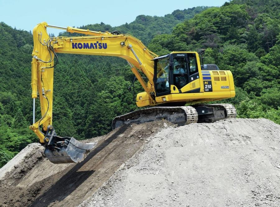 The newest entrant to Komatsu's iMC 2.0 line-up is the 165 hp (123 kW) PC210LCi-11 excavator.