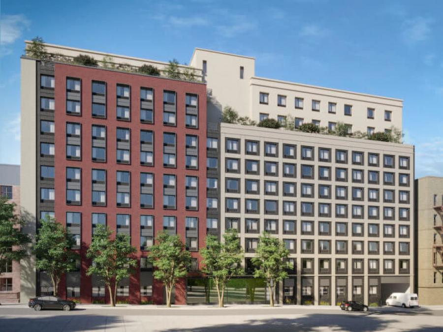 The two 11-story buildings, dubbed CHV 202nd and 203rd Street, will be located at 261 East 202nd Street and 270 East 203rd Street. (Aufgang rendering)