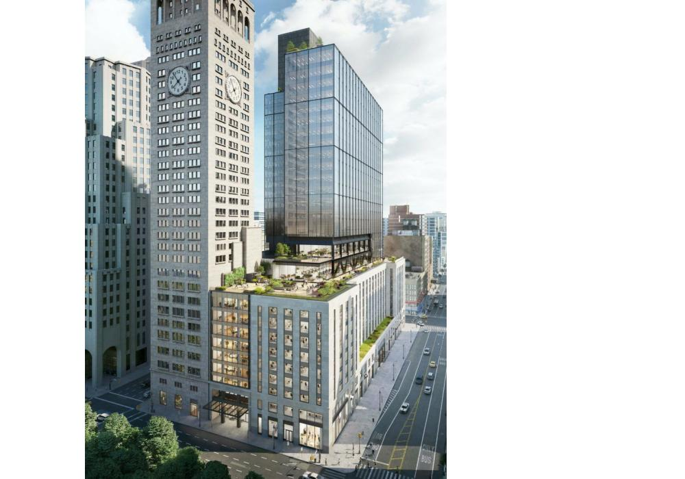 Rendering of One Madison Avenue's expansion and renovation, designed by Kohn Pedersen Fox.