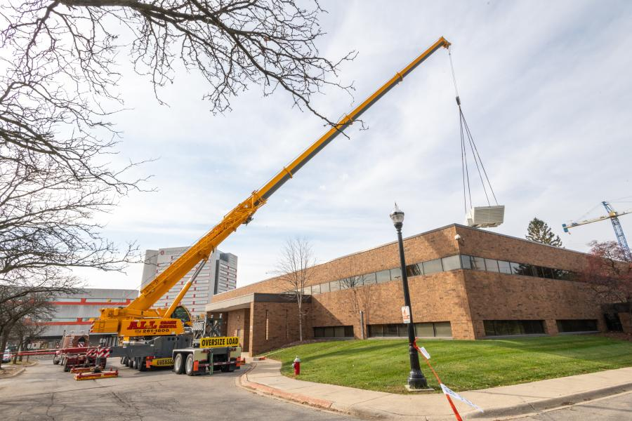 On Nov. 14, 2020, five different cranes were working on five different lifting jobs within a six-block radius on the campus grounds.