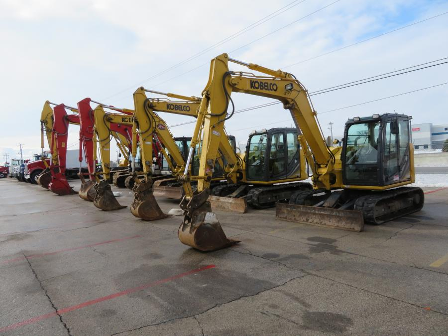 The Jan. 15 auction in Racine, Wis., had plenty of equipment and trucks to bid on.