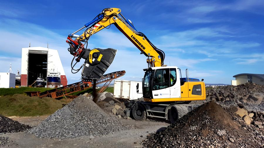 The landing strips in Reykjavík, the largest airport in Iceland, were rebuilt  by using the old asphalt as a base material, due to the use of a BF70.2 crusher bucket.