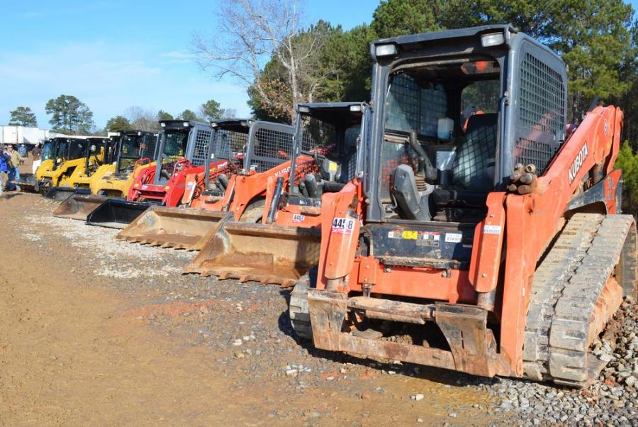 Another good selection  of compact track loaders and compact and mini  equipment were in this sale.