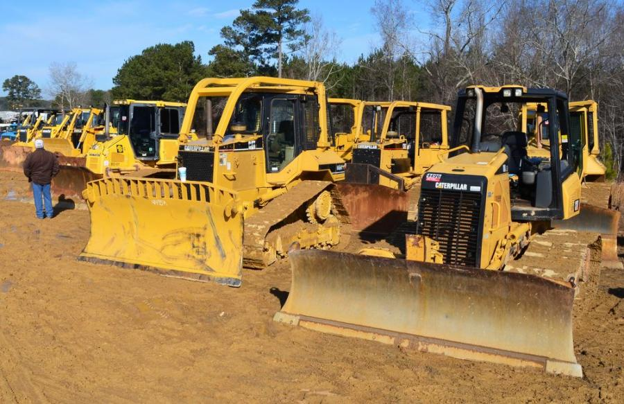 A variety of dozers also were in the auction lineup.