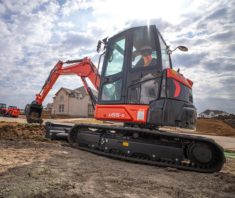 Engineered to meet the needs of contractors working in tight spaces, the new U55-5 has a reduced tail swing to maneuver in any size job site.