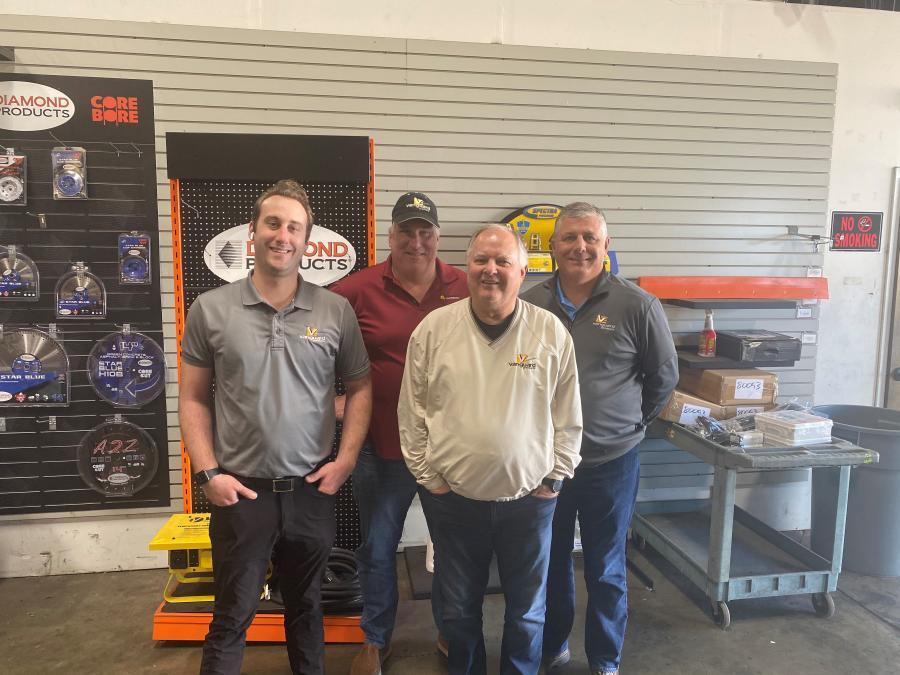 (L-R) are Cory Winborn, Dennis Thiessen, Ron Fleener and Myron Kadillak, the Vanguard sales team.