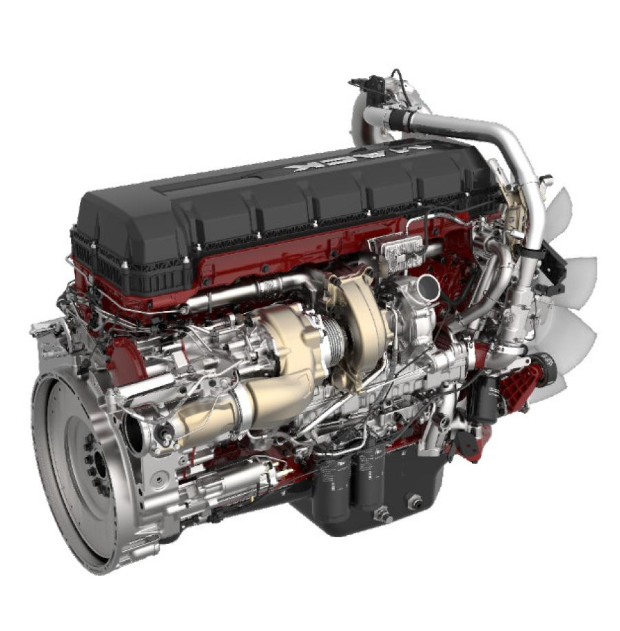 Included in the Mack MP8HE+ powertrain package are the MP8HE engine, Mack mDRIVE automated manual transmission, Mack Predictive Cruise and multiple aerodynamic enhancements.