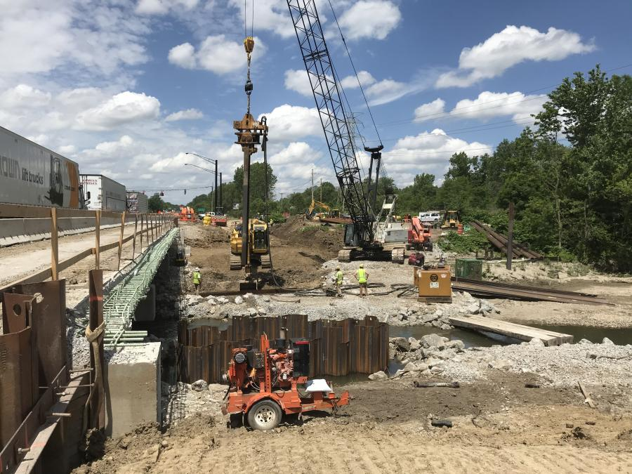 The design/build project was awarded to John R. Jurgensen, of Cincinnati, which is charged with the coordination of relocations of numerous utilities, a task that would typically happen before the project began. (Ohio Department of Transportation photo)