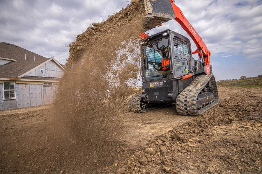 The new SVL97-2 boasts a 96-hp engine with a rated operating capacity of 3,200 lbs. (at 35 percent tipping load).