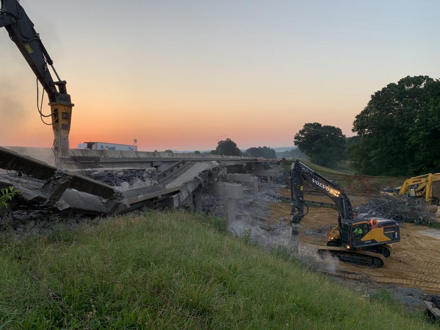 Brasfield & Gorrie crews perform demolition work on the project. (Brasfield & Gorrie photo)