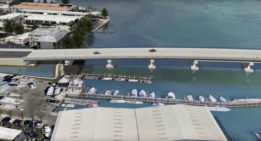 In 2018, FDOT provided this illustration that details what the new Cortez Bridge will look like on the Bradenton Beach side. (FDOT rendering)